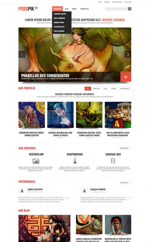 Art/Portfolio WordPress Theme - ArtPicturet - Home