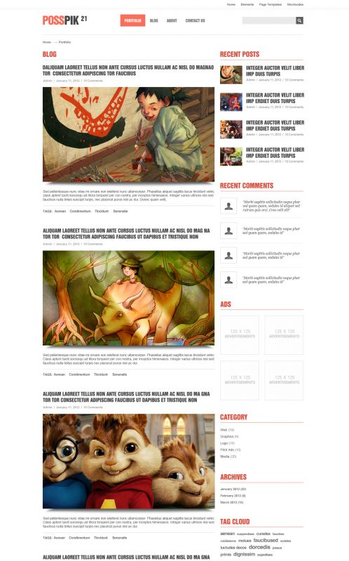 Art/Portfolio WordPress Theme - ArtPicturet - Blog