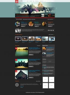 Tourism Premium Wordpress Theme - Travelblog
