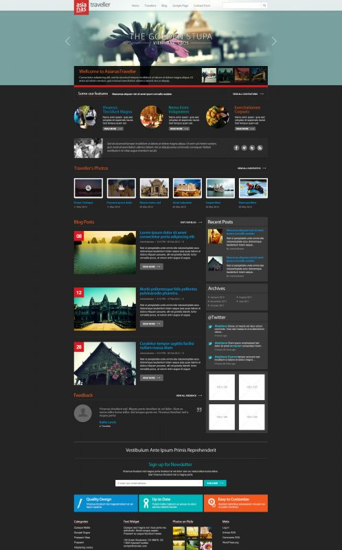 Travel Magazine Wordpress Theme - AsianasTraveller - Home