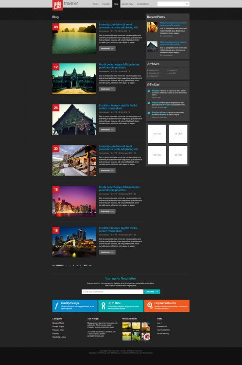 Travel Magazine Wordpress Theme - AsianasTraveller - Blog