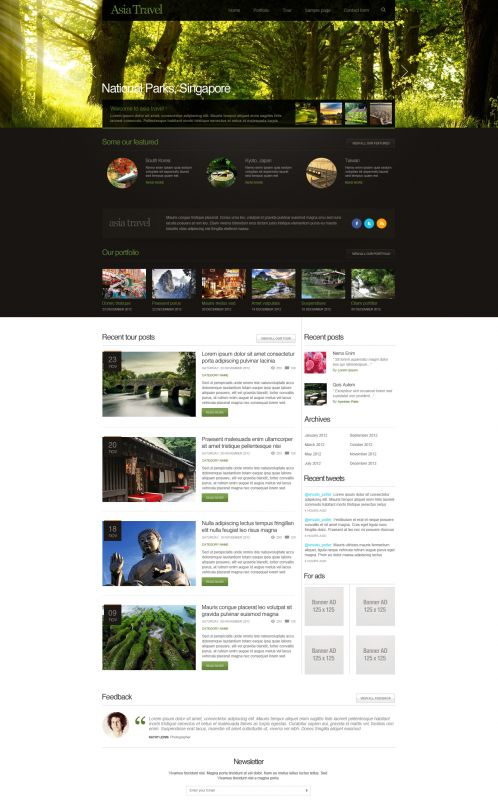 Traveling/Tourism Magazine WordPress Theme - AsiaTravel - Home