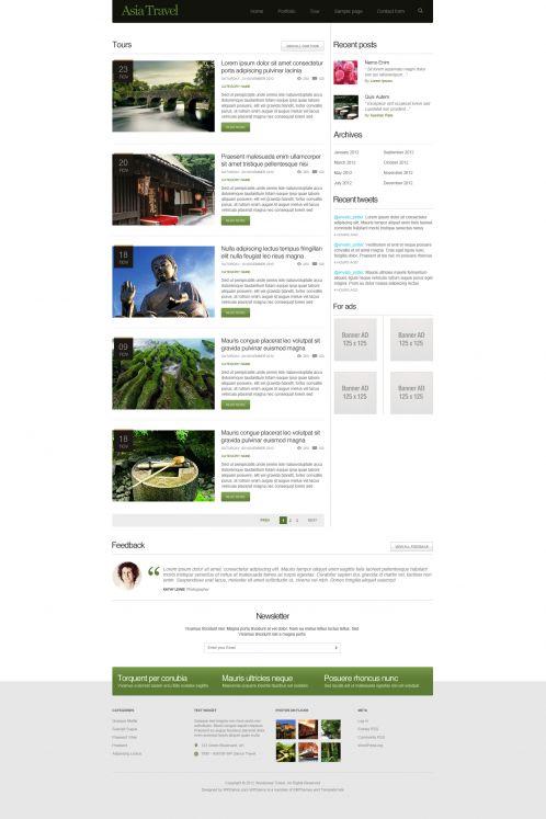 Traveling/Tourism Magazine WordPress Theme - AsiaTravel - Blog