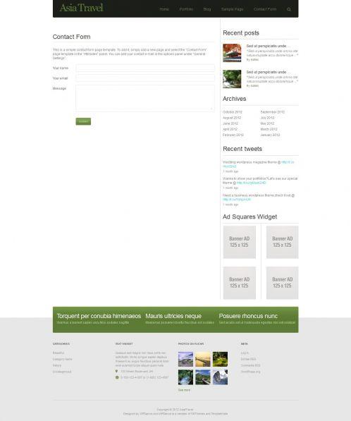 Traveling/Tourism Magazine WordPress Theme - AsiaTravel - Contact