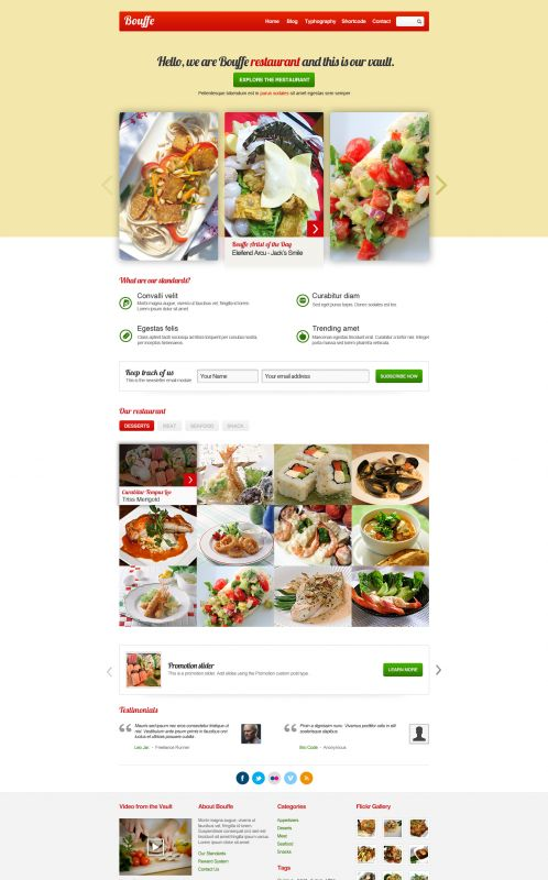 Portfolio WordPress Theme - BouffeFood - Home