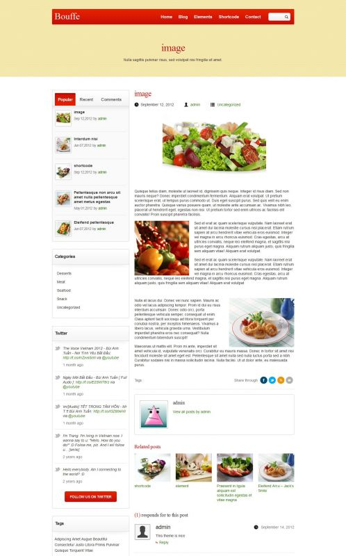 Portfolio WordPress Theme - BouffeFood - Blog Details