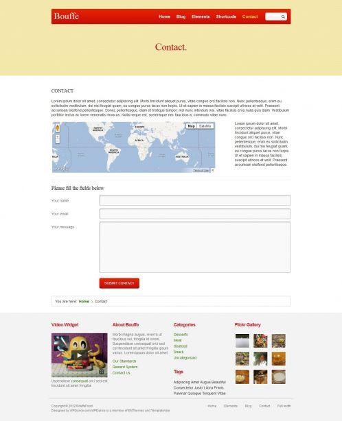 Portfolio WordPress Theme - BouffeFood - Contact