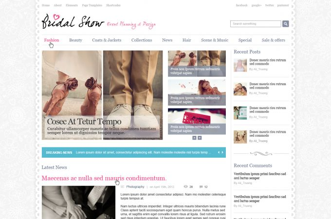 Wedding Photography Wordpress Theme - Bridalshow