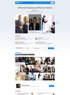 Responsive - Investment Company Wordpress Theme - Heavygroup