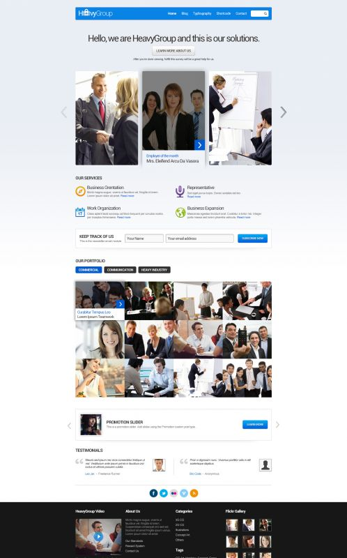 Corporate/Business Wordpress Theme - Business - Home