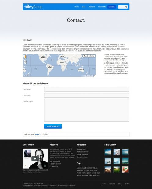 Corporate/Business Wordpress Theme - Business - Contact Page
