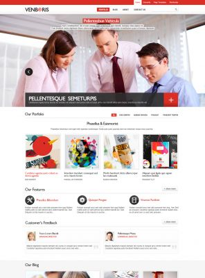 Wordpress business theme wpdance consulting wordpress template venbiz accmission Image collections