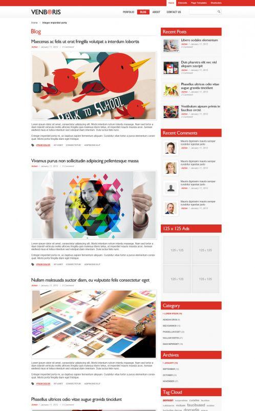 Business Portfolios Wordpress Theme - BusinessVenboris - Blogs