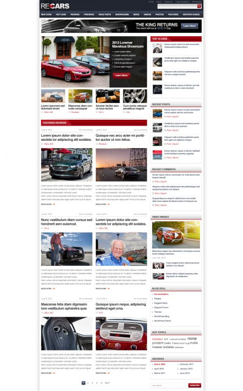 Cars Magazine/Review Wordpress Theme - CarsReview - Home