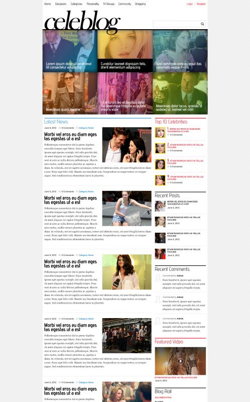 News/Blog Magazine WordPress Theme - CeleBlog - Home