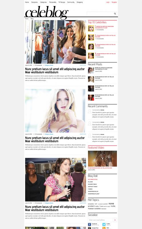 News/Blog Magazine WordPress Theme - CeleBlog - Blog
