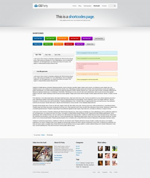 Portfolio WordPress Theme - CGParty - Shortcodes