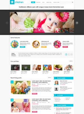 Baby Wordpress Theme - Childblog