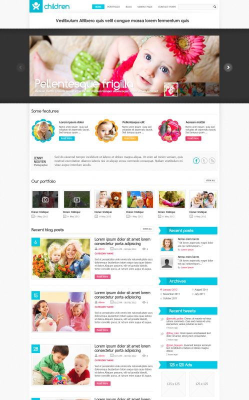 Baby Wordpress Theme - Childblog | WordPress Themes, WordPress Templates