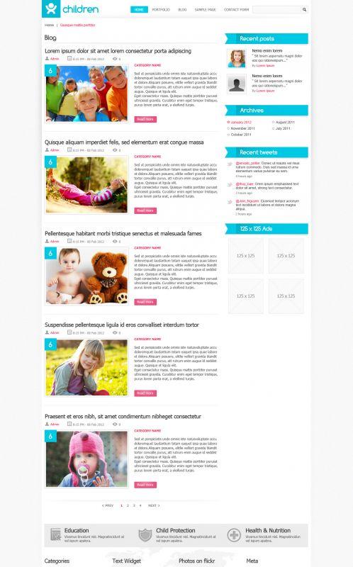 Children Magazine WordPress Theme - ChildBlog - Blog