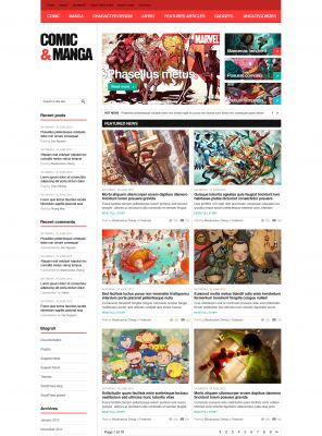 Comic WordPress Theme - ComicMag
