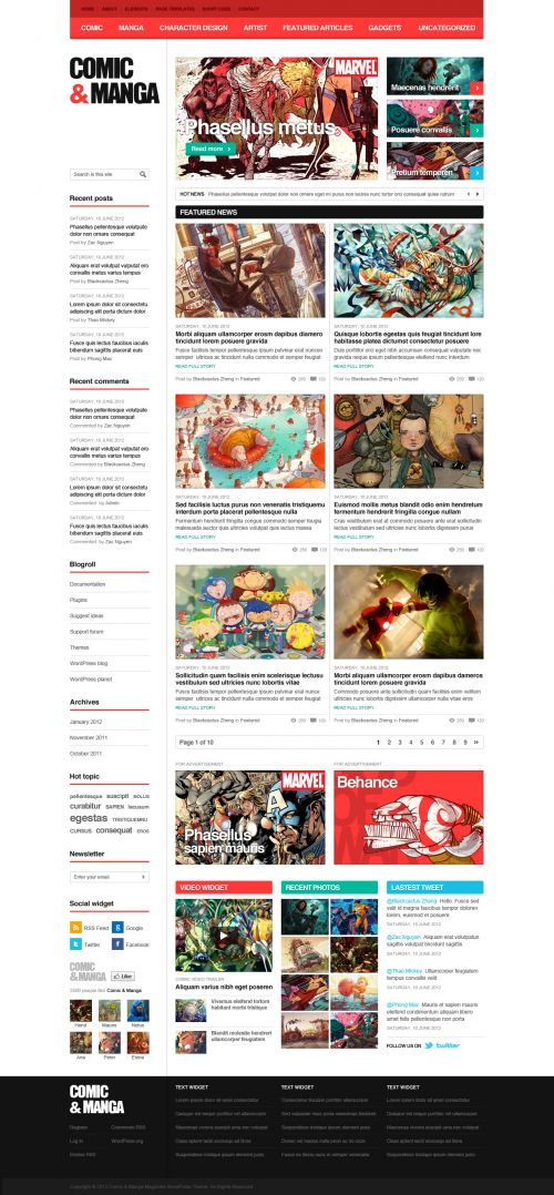 Comic Manga WordPress Theme | ComicMag | WPDance