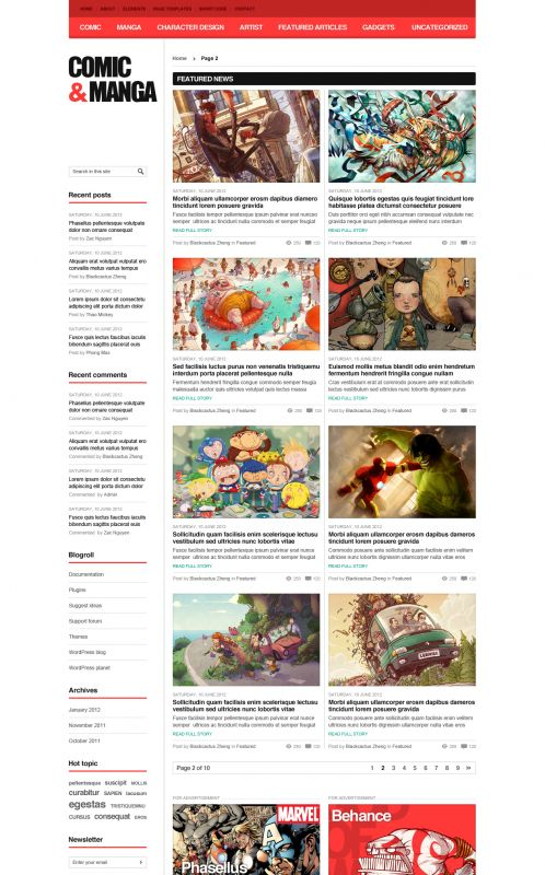 Comic Magazine WordPress Theme - ComicMag - Blog