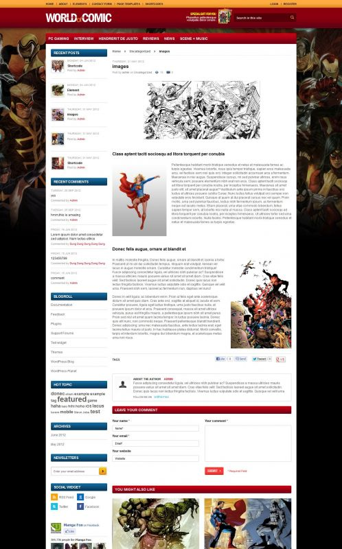 Comic Magazine WordPress Theme - Comic Magazine - Details
