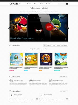 App Mobile Wordpress Theme - DeRoss