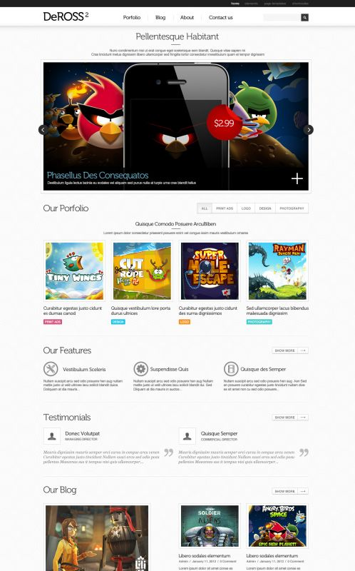 Portfolio WordPress Theme -DeRoss - Home