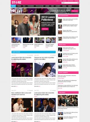 Star Magazine Wordpress Template - Starz