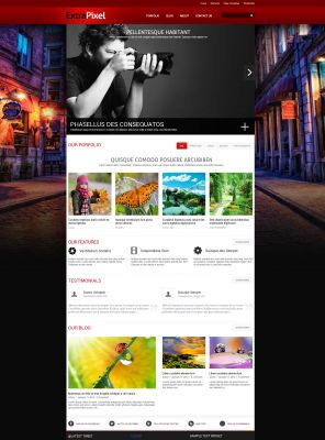 Photography Wordpress Template - ExtraPixel