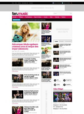 Music Magazine WordPress Theme - Fanmusic