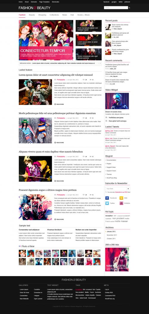 Fashion Magazine WordPress Theme | FashionMag | WPDance