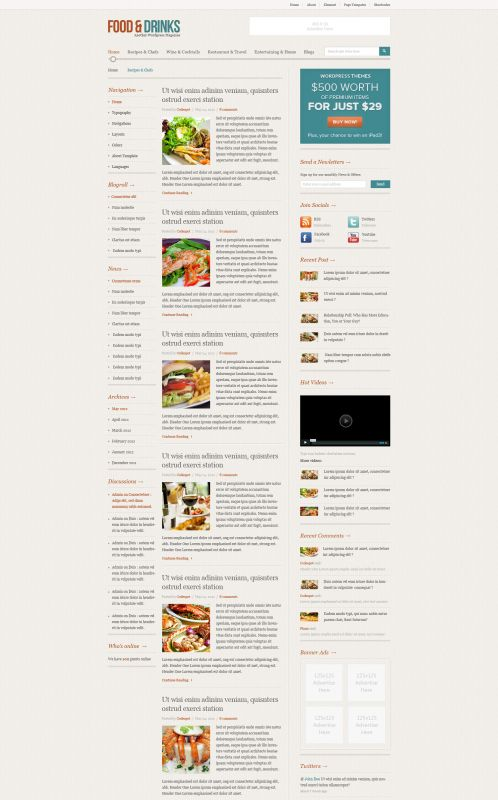 Food/Restaurant WordPress Theme - FoodMag - Blog