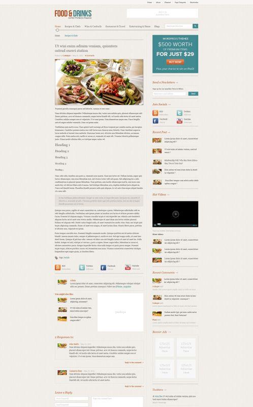 Food/Restaurant WordPress Theme - FoodMag - Details