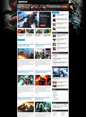 Gaming magazine wordpress theme - Boxgame