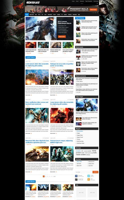 Gaming Magazine WordPress Theme - GameMag - Home