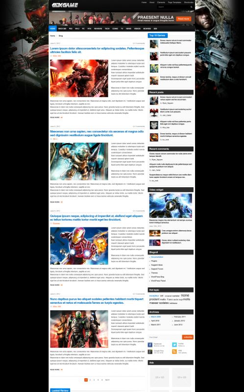 Gaming Magazine WordPress Theme - GameMag - Blog