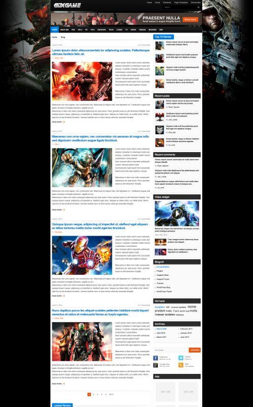 Gaming Magazine WordPress Theme - GameMag - Blog