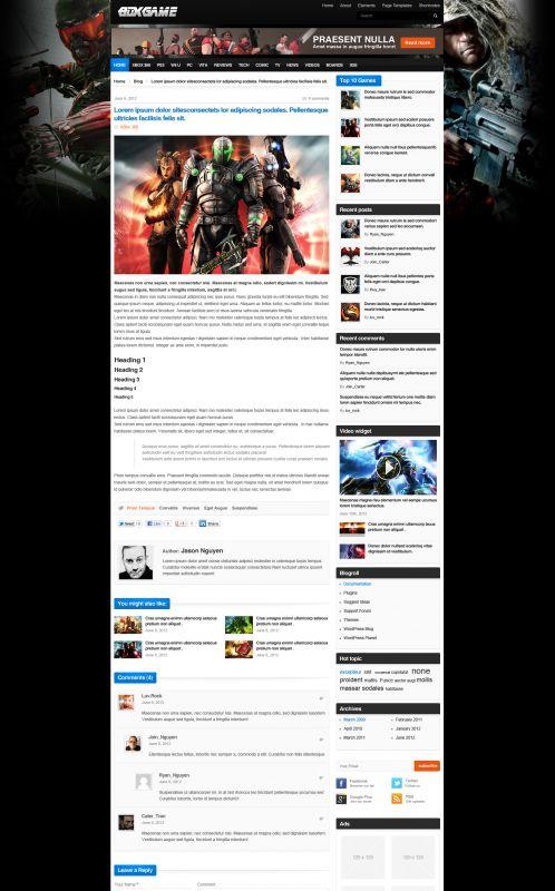 Gaming Magazine WordPress Theme - GameMag - Blog Details