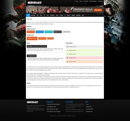 Gaming Magazine WordPress Theme - GameMag - Shortcode
