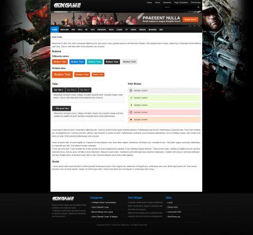 Gaming Magazine WordPress Theme - GameMag - Shortcode