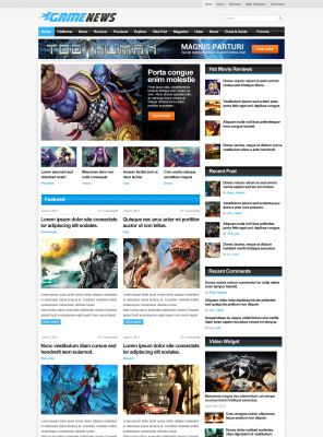 Game Portal Wordpress Theme - GameNews