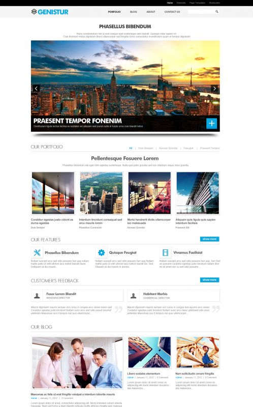 Business/Coporate Wordpress Theme - GenisCoporate - Home