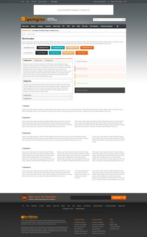 Game Magazine WordPress Theme - Gspotlights - Shortcode