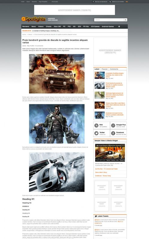 Game Magazine WordPress Theme - Gspotlights - Blog Detail