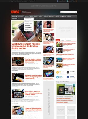 Gadget Wordpress Theme - Kross