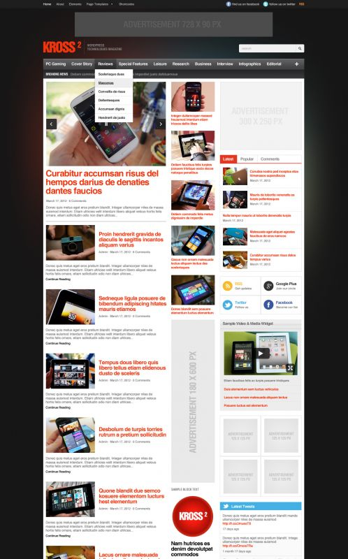 Technology WordPress Theme - Kross2 - Home