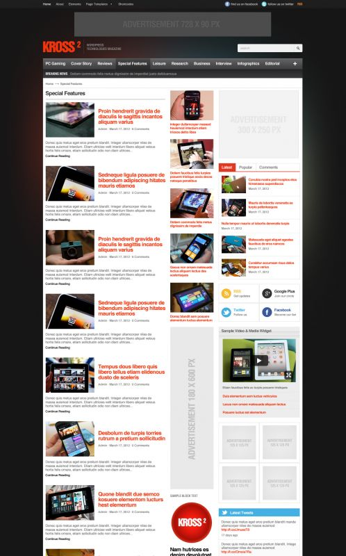 Technology WordPress Theme - Kross2 - Blog